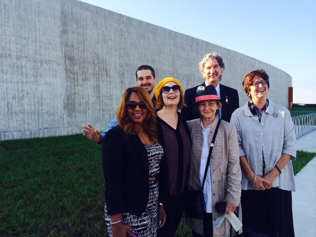Flight 93 Architects Paul and Milena Murdoch with University of Akron Faculty and Designers